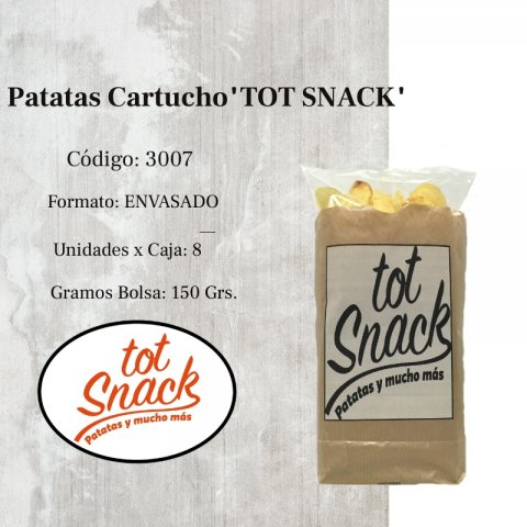 "Patatas Cartucho x150 Grs.""TOT SNACK"""